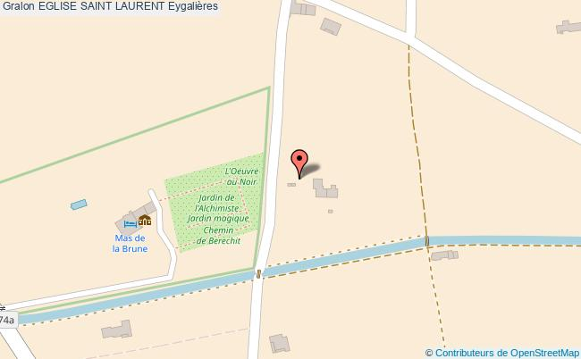 plan Eglise Saint Laurent Eygalières