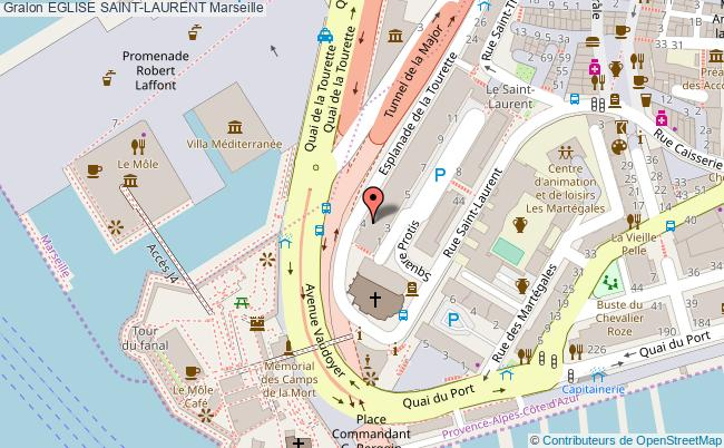 plan Eglise Saint-laurent Marseille
