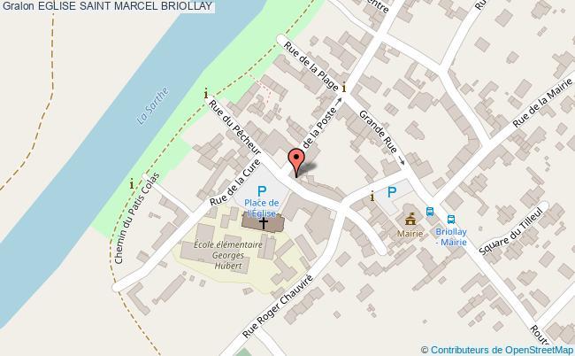 plan Eglise Saint Marcel Briollay