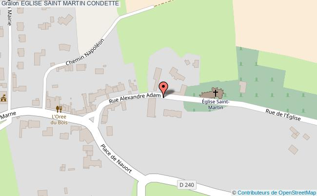 plan Eglise Saint Martin Condette