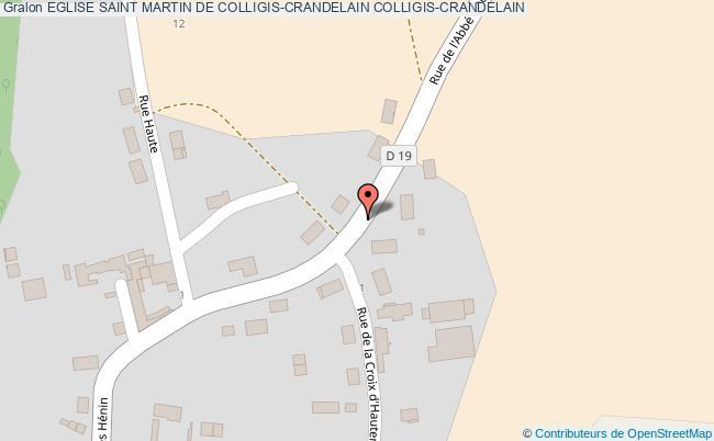 plan association Eglise Saint Martin De Colligis-crandelain Colligis-crandelain COLLIGIS-CRANDELAIN