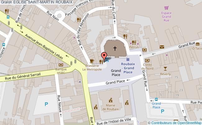 plan Eglise Saint-martin Roubaix