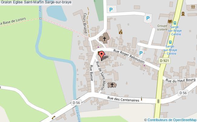 plan association Eglise Saint-martin Sarge-sur-braye Sarge-sur-braye