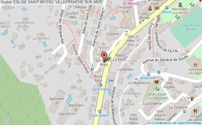 plan Eglise Saint-michel Villefranche Sur Mer