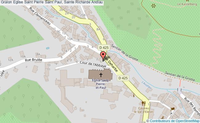 plan Eglise Saint Pierre Saint Paul, Sainte Richarde Andlau