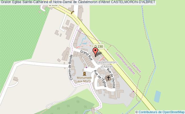 plan Eglise Sainte-catherine Et Notre-dame De Castelmoron D'albret Castelmoron-d'albret