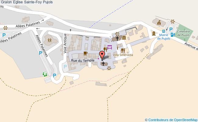 plan Eglise Sainte-foy Pujols