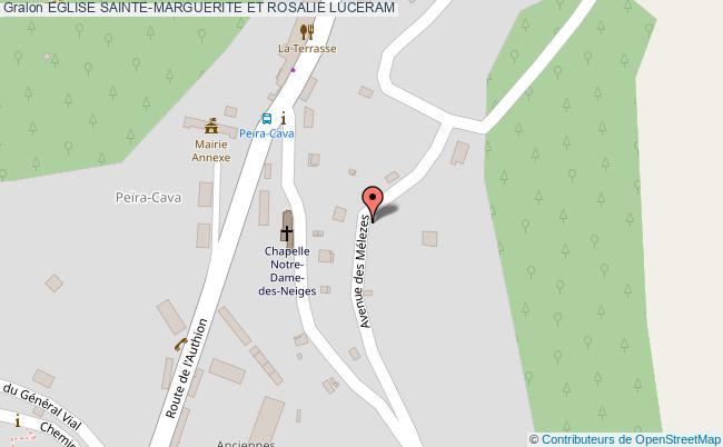 plan Eglise Sainte-marguerite Et Rosalie Luceram