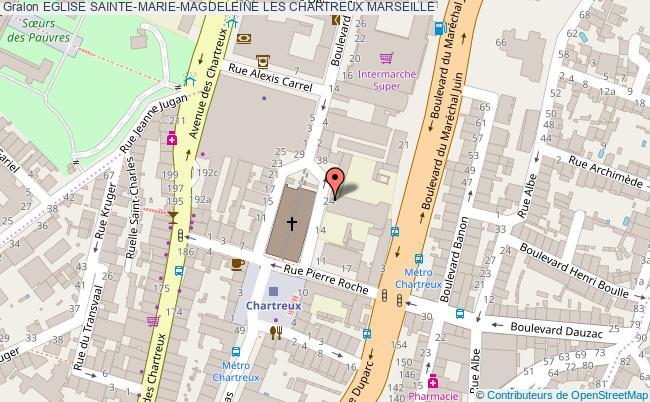 plan Eglise Sainte-marie-magdeleine Les Chartreux Marseille