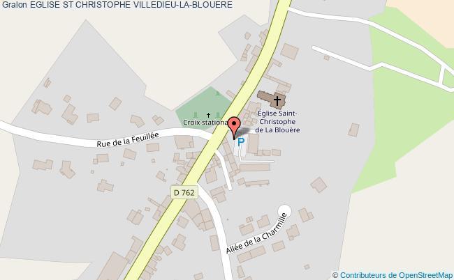 plan Eglise St Christophe Villedieu-la-blouere
