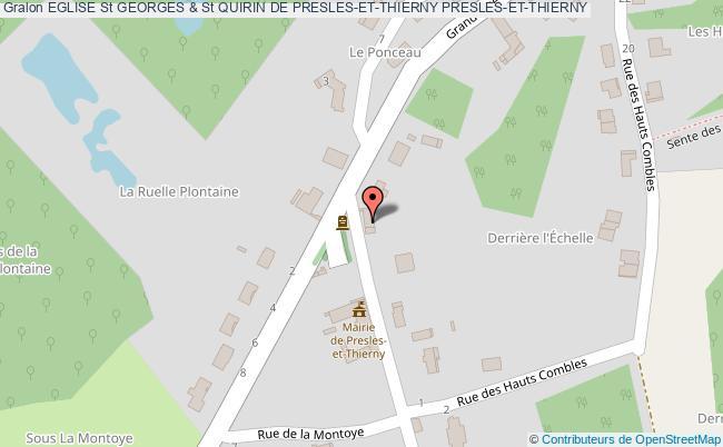 plan Eglise St Georges & St Quirin De Presles-et-thierny Presles-et-thierny