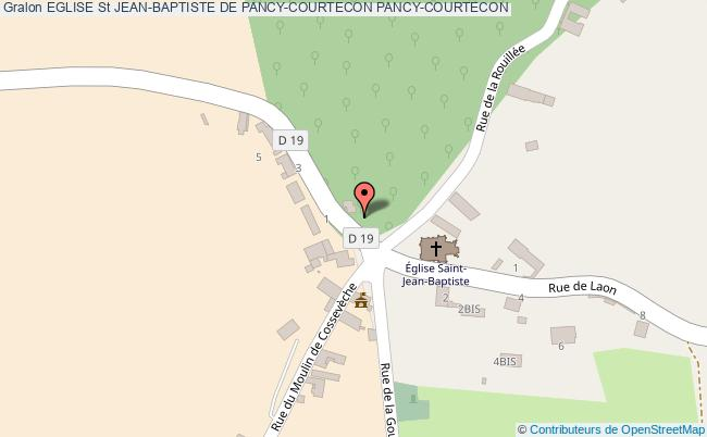 plan Eglise St Jean-baptiste De Pancy-courtecon Pancy-courtecon