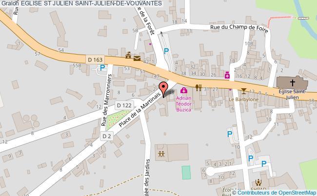 plan association Eglise St Julien Saint-julien-de-vouvantes SAINT-JULIEN-DE-VOUVANTES