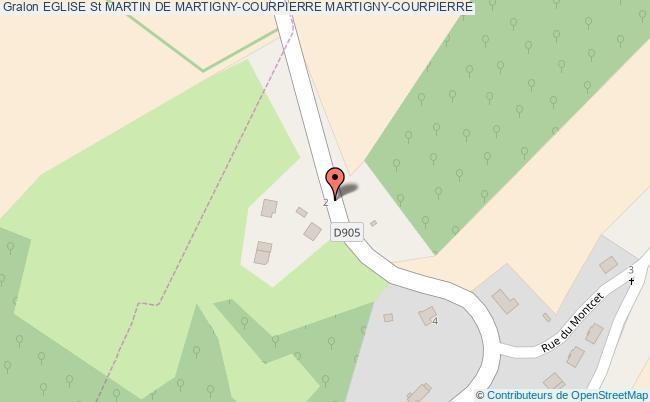 plan Eglise St Martin De Martigny-courpierre Martigny-courpierre