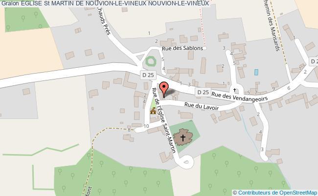 plan association Eglise St Martin De Nouvion-le-vineux Nouvion-le-vineux NOUVION-LE-VINEUX