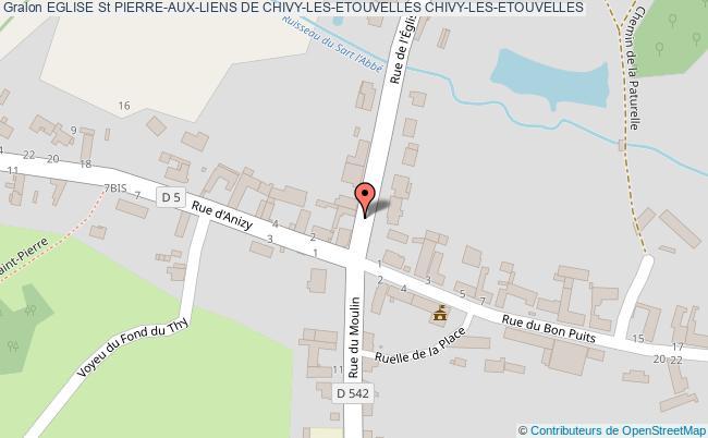 plan Eglise St Pierre-aux-liens De Chivy-les-etouvelles Chivy-les-etouvelles