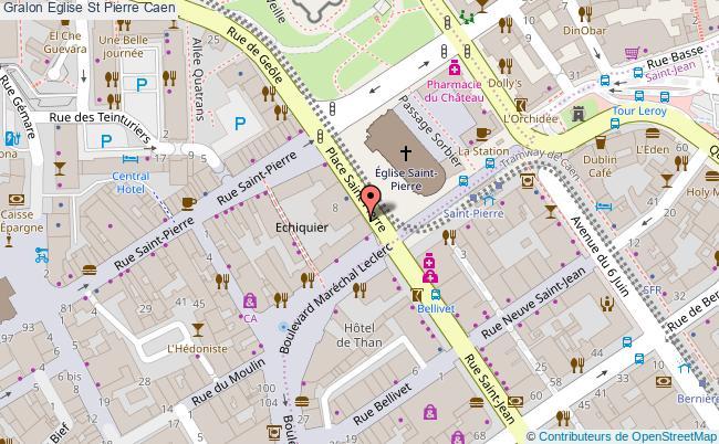 plan Eglise St Pierre Caen