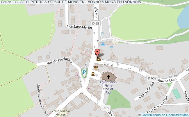plan Eglise St Pierre & St Paul De Mons-en-laonnois Mons-en-laonnois