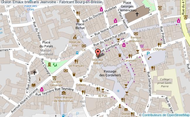 plan Emaux Bressans Jeanvoine - Fabricant Bourg-en-bresse