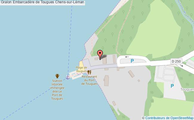 plan Embarcadère De Tougues Chens-sur-léman
