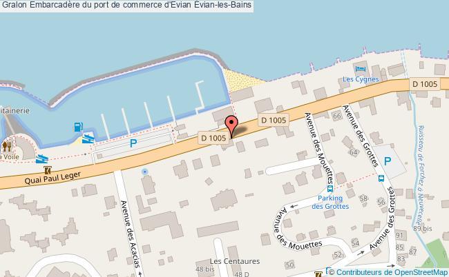 plan Embarcadère Du Port De Commerce D'evian Évian-les-bains