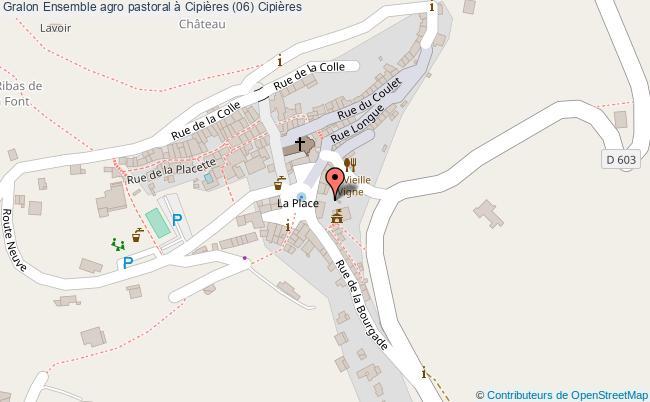 plan Ensemble Agro Pastoral à Cipières (06) Cipières