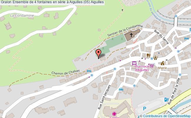 plan Ensemble De 4 Fontaines En Série à Aiguilles (05) Aiguilles