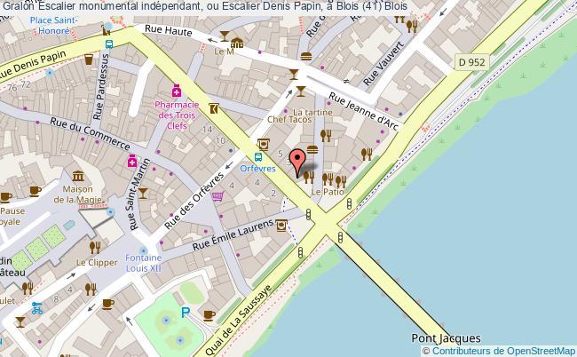 plan Escalier Monumental Indépendant, Ou Escalier Denis Papin, à Blois (41) Blois