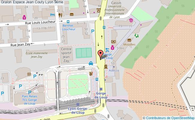 plan association Espace Jean Couty Lyon 9ème Lyon 9ème