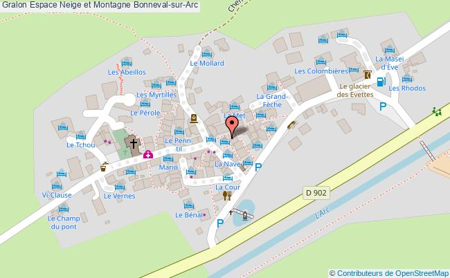 plan association Espace Neige Et Montagne Bonneval-sur-arc Bonneval-sur-Arc