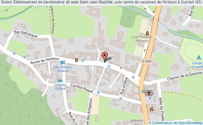 plan Établissement De Bienfaisance Dit Asile Saint-jean-baptiste, Puis Centre De Vacances De L'arbizon à Guchen (65) Guchen