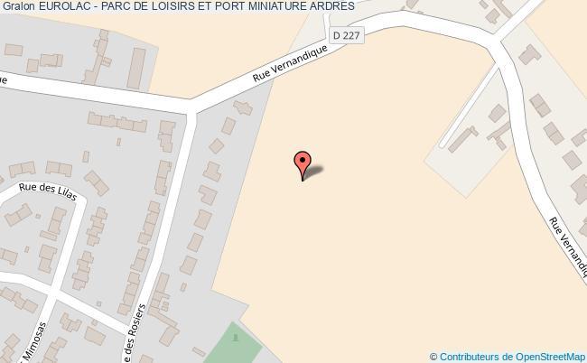 plan Eurolac - Parc De Loisirs Et Port Miniature Ardres
