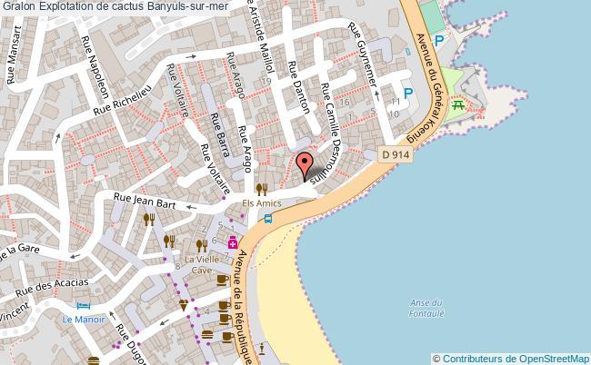 plan association Explotation De Cactus Banyuls-sur-mer Banyuls-sur-mer