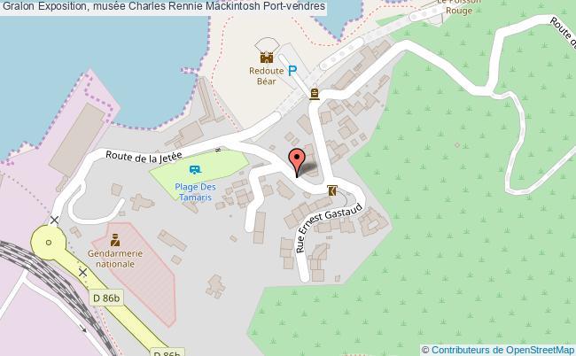 plan Exposition, Musée Charles Rennie Mackintosh Port-vendres