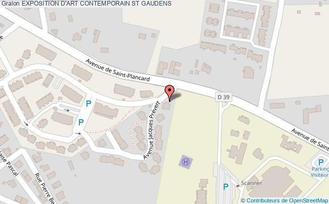 plan Exposition D'art Contemporain St Gaudens