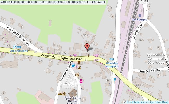 plan Exposition De Peintures Et Sculptures à La Roquebrou Le Rouget