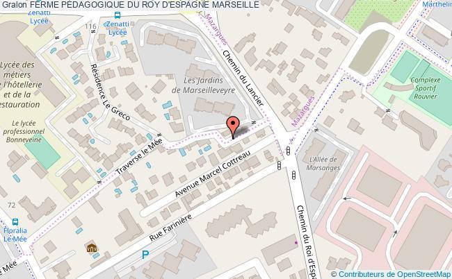 plan Ferme PÉdagogique Du Roy D'espagne Marseille