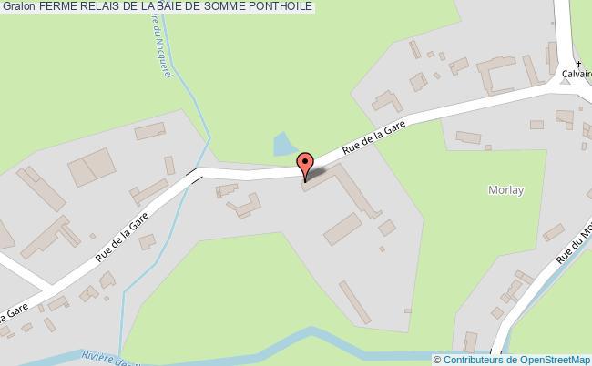 plan association Ferme Relais De La Baie De Somme Ponthoile PONTHOILE