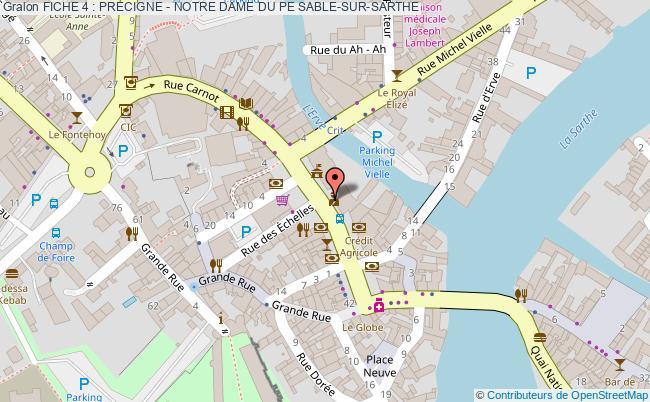 plan Fiche 4 : Precigne - Notre Dame Du Pe Sable-sur-sarthe