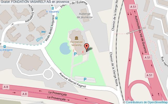 plan Fondation Vasarely Aix En Provence