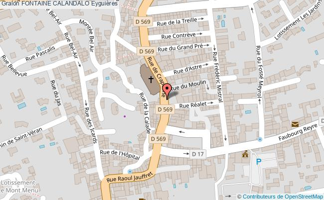 plan Fontaine Calandalo Eyguières