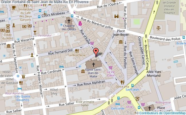Fontaine de saint jean de malte aix en provence tourisme for Plan de malte