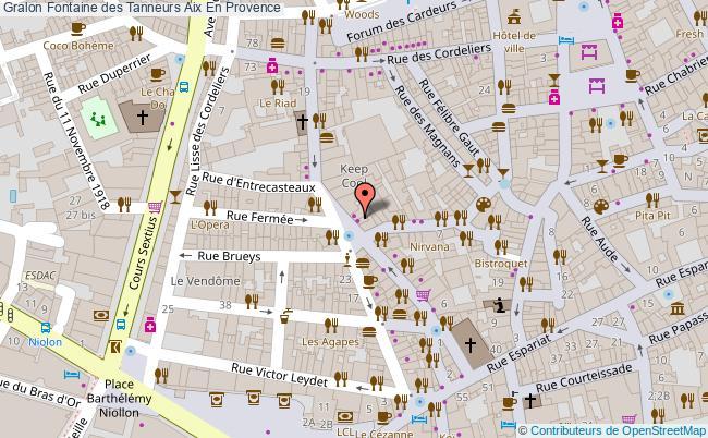 plan Fontaine Des Tanneurs Aix En Provence