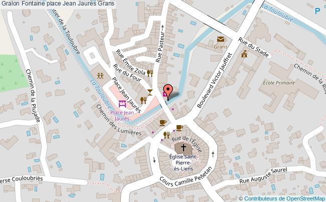plan Fontaine Place Jean Jaurès Grans