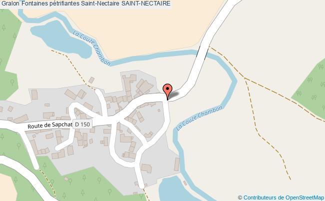 plan Fontaines Pétrifiantes Saint-nectaire Saint-nectaire