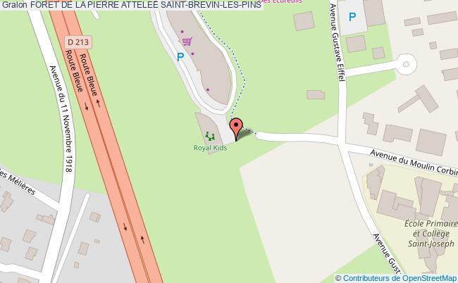 plan Foret De La Pierre Attelee Saint-brevin-les-pins