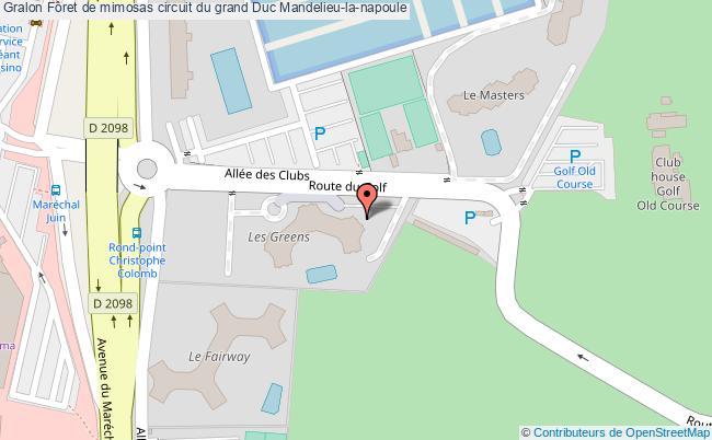 plan Fôret De Mimosas Circuit Du Grand Duc Mandelieu-la-napoule