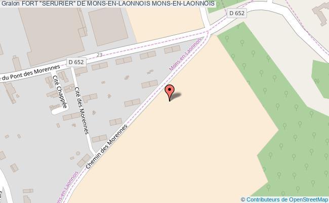 """plan Fort """"serurier"""" De Mons-en-laonnois Mons-en-laonnois"""