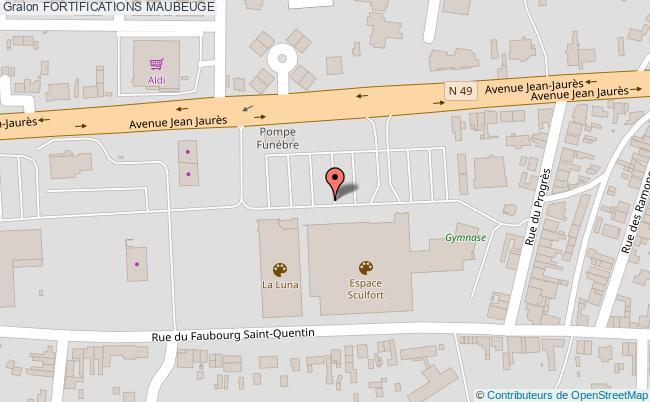 plan association Fortifications Maubeuge MAUBEUGE