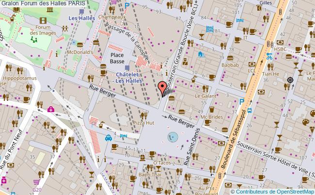 plan association Forum Des Halles Paris PARIS